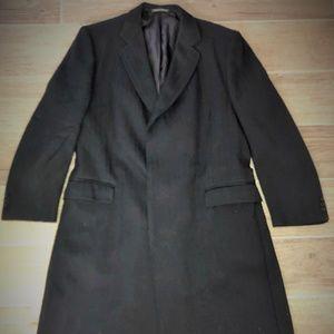 h huntsman Jackets & Coats - H HUNTSMAN Blue Heavy Wool Overcoat England 46